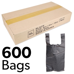 "8"" x 4"" x 16"" Heavy Duty Plastic Bags (Box of 600)"