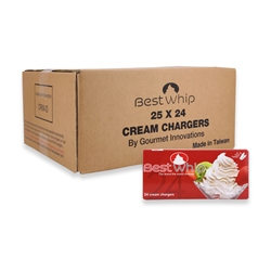 BestWhip Whipped Cream Chargers (Case of 600) [24x25]