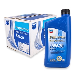 Chevron Supreme SAE 5W-20 Motor Oil (Box of 12)