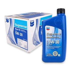 Chevron Supreme SAE 5W-30 Motor Oil (Box of 12)
