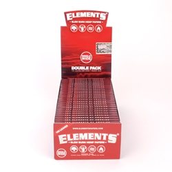 Elements Slow Burn Hemp Single Wide Rolling Papers (Box of 25)