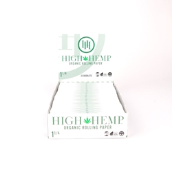 High Hemp 1 1/4 Rolling Papers (Box of 25)