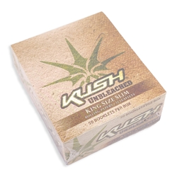 Kush Unbleached King Slim Rolling Papers (Box of 50)