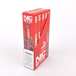 NiC Stix Cherry Disposable Vapes (Box of 5)