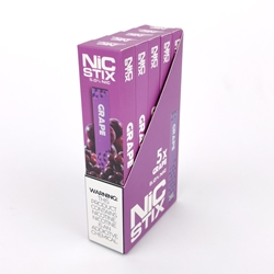 NiC Stix Grape Disposable Vapes (Box of 5)