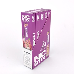 NiC Stix Lychee Disposable Vapes (Box of 5)