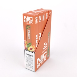 NiC Stix Peach Disposable Vapes (Box of 5)