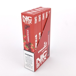 NiC Stix Strawberry Disposable Vapes (Box of 5)