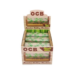 OCB Bamboo Single Wide Cigarette Hand Rollers (Box of 6)