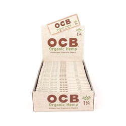 OCB Organic Hemp 1 1/4 Rolling Papers (Box of 24)