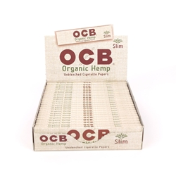 OCB Organic Hemp Slim Rolling Papers (Box of 24)