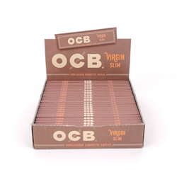 OCB Virgin Slim Rolling Papers (Box of 24)