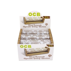 OCB Wood 1 1/4 Cigarette Hand Rollers (Box of 6)
