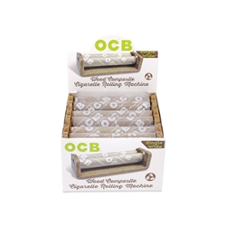 OCB Wood Single Wide Cigarette Hand Rollers (Box of 6)