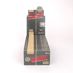 RAW Black Single Wide Rolling Papers (Box of 25)