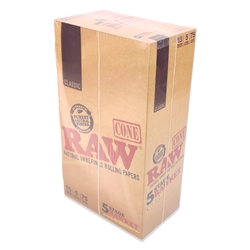"RAW Classic ""5 Stage Rawket"" Pre-Rolled Cones (Box of 15 Packs)"