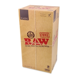 RAW Classic King Size Pre-Rolled Cones (Box of 1400)