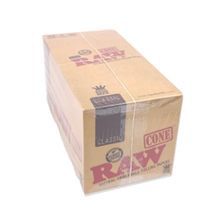 RAW Classic King Size Pre-Rolled Cones (Box of 32 Packs)