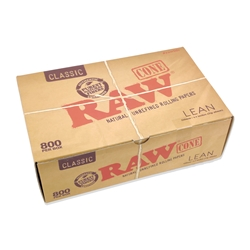 RAW Classic Lean Pre-Rolled Cones (Box of 800)