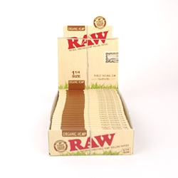 RAW Organic Hemp 1 1/4 Rolling Papers (Box of 24)