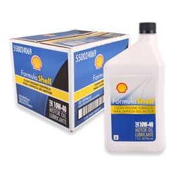Shell SAE 10W-40 Motor Oil (Box of 12)