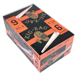 Zig-Zag 1 1/4 Pre-Rolled Cones (Box of 24 Packs)